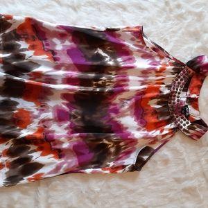 Sleeveless print blouse Apartment 9 size large